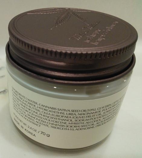B&B Korea Mari Huana Cream English ingredients
