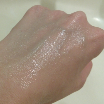 Watery essence rubbed in