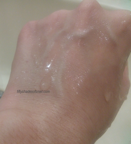 Rinsing off Primera Smooth Cleansing Cream