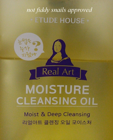 Review of Etude House Real Art Moisture Cleansing Oil