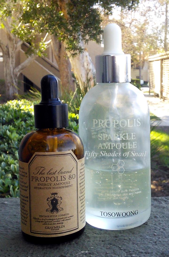 Propolis Ampoule Mega Battle: Tosowoong Propolis Sparkle Ampoule vs. Graymelin Propolis 80 EnergyAmpoule