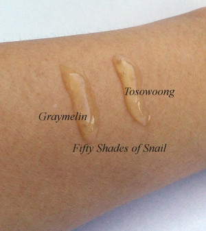 Texture comparison of Graymelin and Tosowoong propolis ampoules