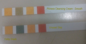 pH strip comparison