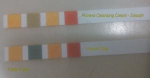 pH strip comparison