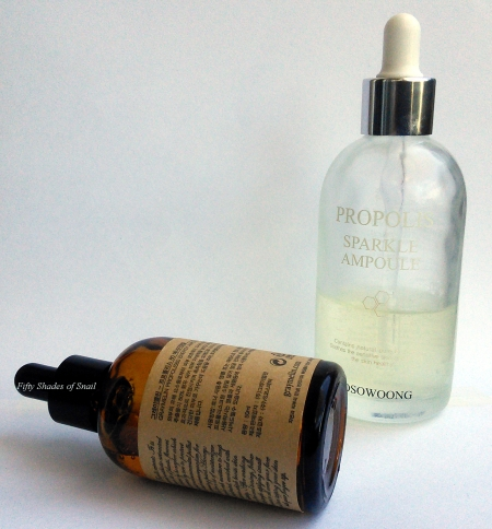 Tosowoong and Graymelin propolis ampoule comparison review