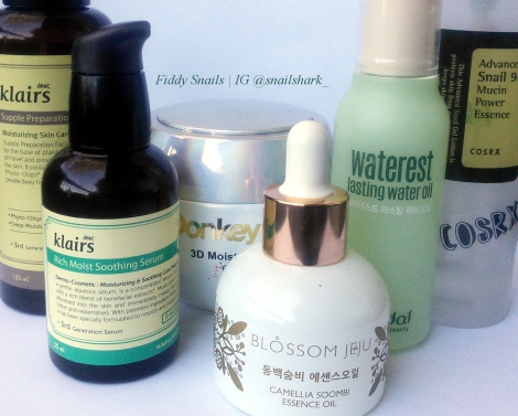Fifty Shades of Snail Dry Skin Sample Routine