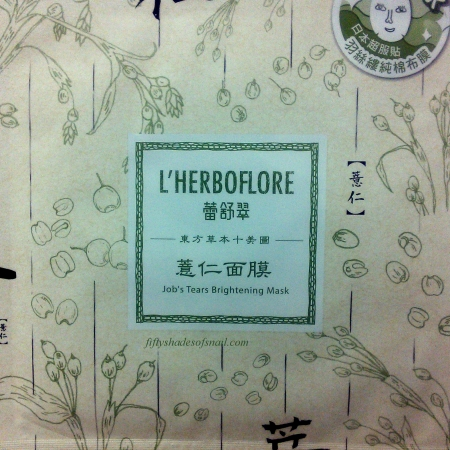 L'Herboflore Job's Tears Brightening sheet mask
