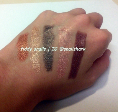 Memebox eyeshadow stick swatches
