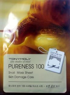 Tony Moly snail mask front