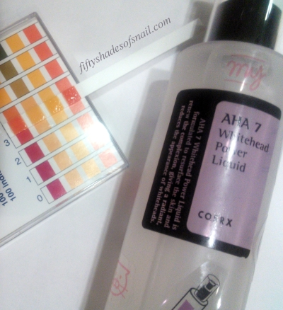 COSRX AHA 7 Whitehead Power Liquid pH