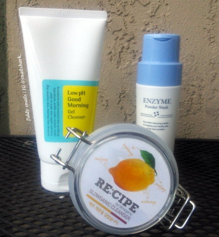Low pH Korean facial cleansers
