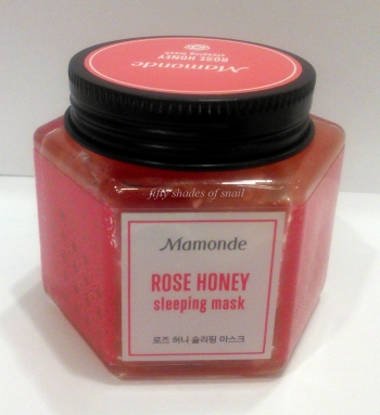 Mamonde Rose Honey Sleeping Pack review