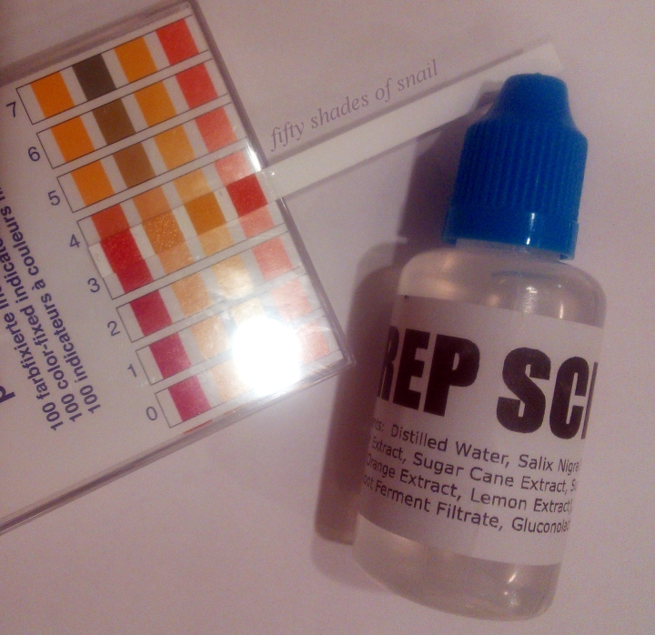 Holy Snails Prep School toner pH
