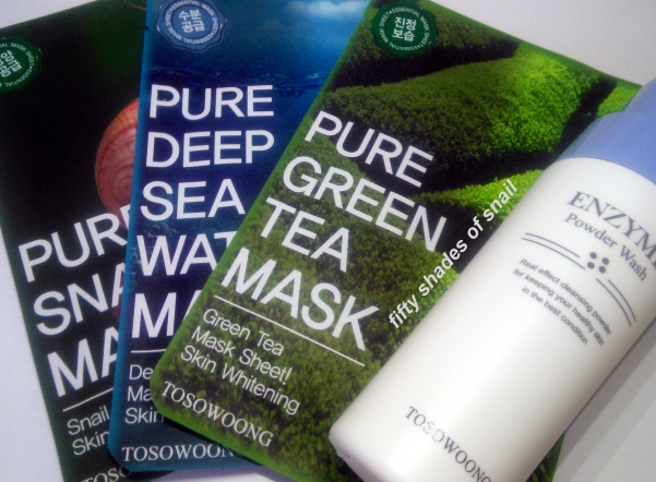 Tosowoong powder cleanser and sheet masks