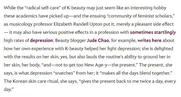 Radical feminist skincare misattribution