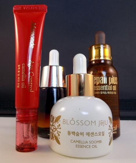 Korean facial oils
