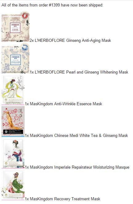 Beautibi sheet mask order