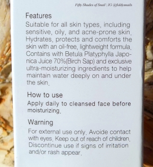COSRX Oil Free Ultra Moisturizing Lotion English directions