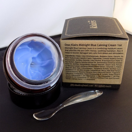 Open jar of Klairs Midnight Blue Calming Cream