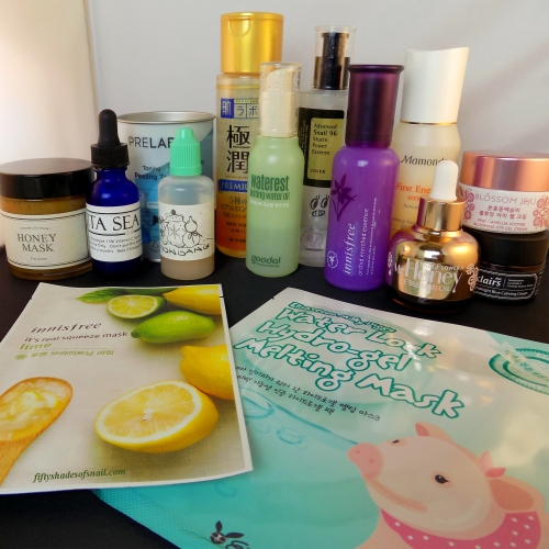 Sample evening Asian skincare routine