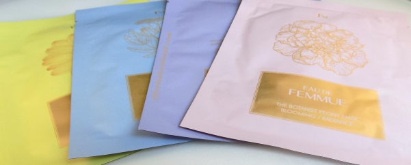 Eau de FEMMUE botanical sheet masks