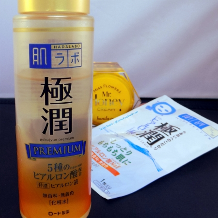Hada Labo Premium lotion sheet mask routine