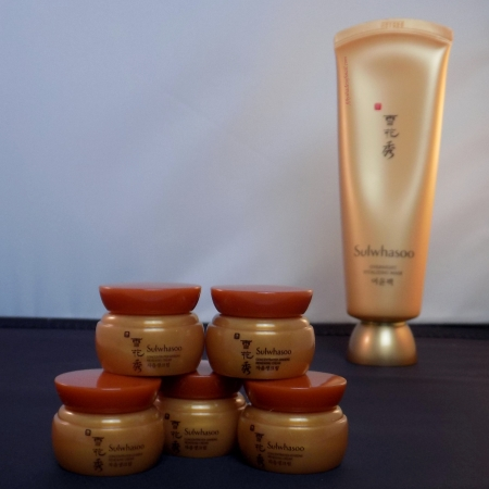 Sulwhasoo ginseng cream samples and overnight mask