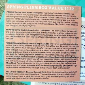 Beautibi Spring Fling box info card