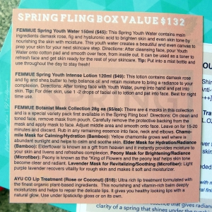 Beautibi Spring Fling box info card