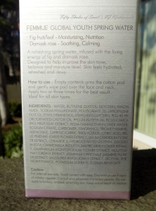Femmue toner English ingredients