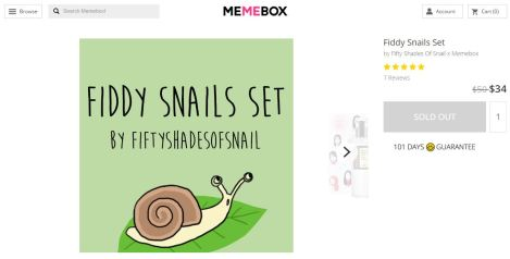 Fiddy Snails box curation