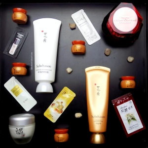 Ginseng skincare products from Korea