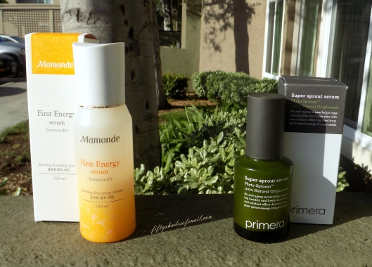 Comparison of Mamonde and Primera anti aging serums