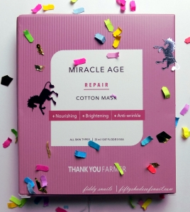 Thankyou Farmer Miracle Age Repair sheet mask review