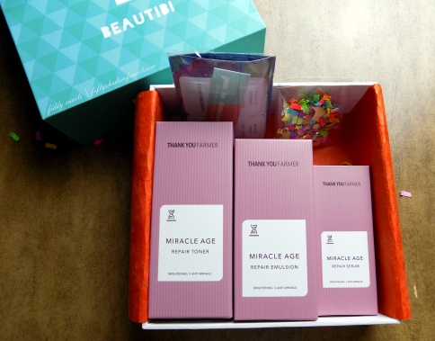 Contents of Beautibi Miracles in May box