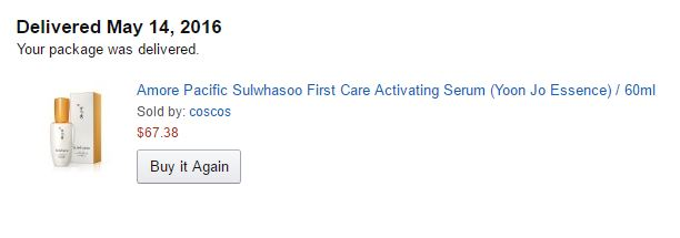 Sulwhasoo First Care Activating Serum EX from Amazon