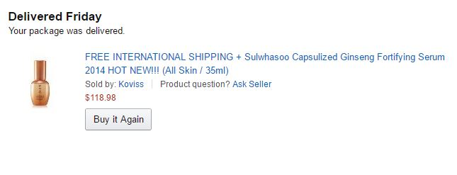 Sulwhasoo Capsulized Ginseng Fortifying Serum from Amazon