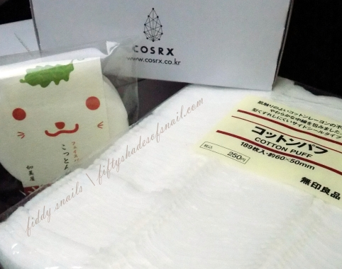 Japanese and Korean cotton pads