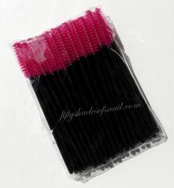 Disposable mascara wands for makeup and eyelash serum