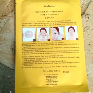 Sulwhasoo First Care Activating Mask instructions