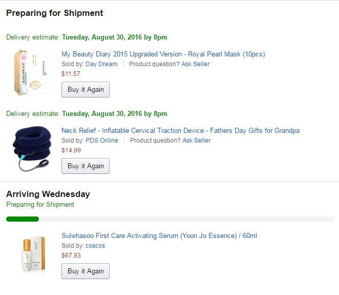 Amazon Sulwhsaoo and My Beauty Diary skincare haul