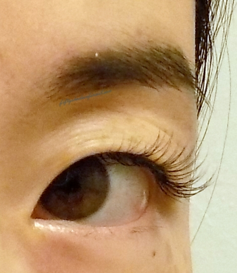 Lash extensions after pic