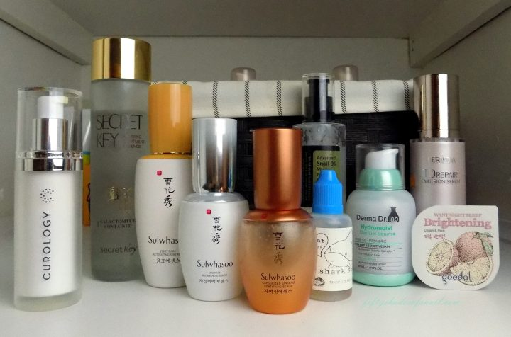 Skincare routine product ordr