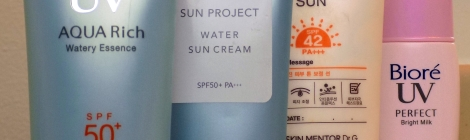 Japanese and Korean sunscreens