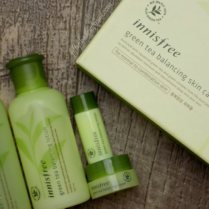 Innisfree Green Tea Balancing skincare set