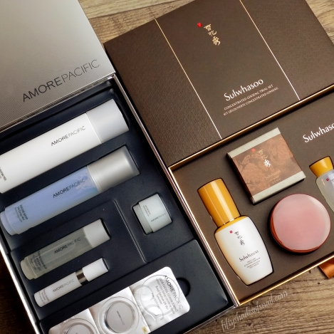 Sulwhasoo and Amorepacific skincare sets