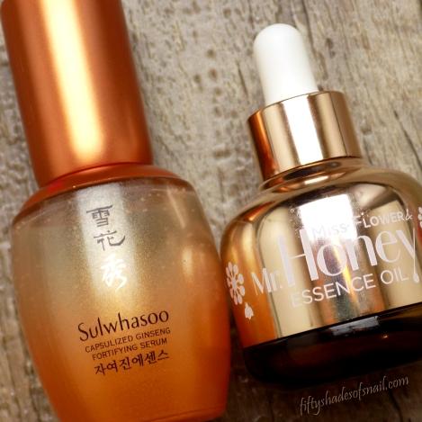 Sulwhasoo and Banila Co anti aging serums