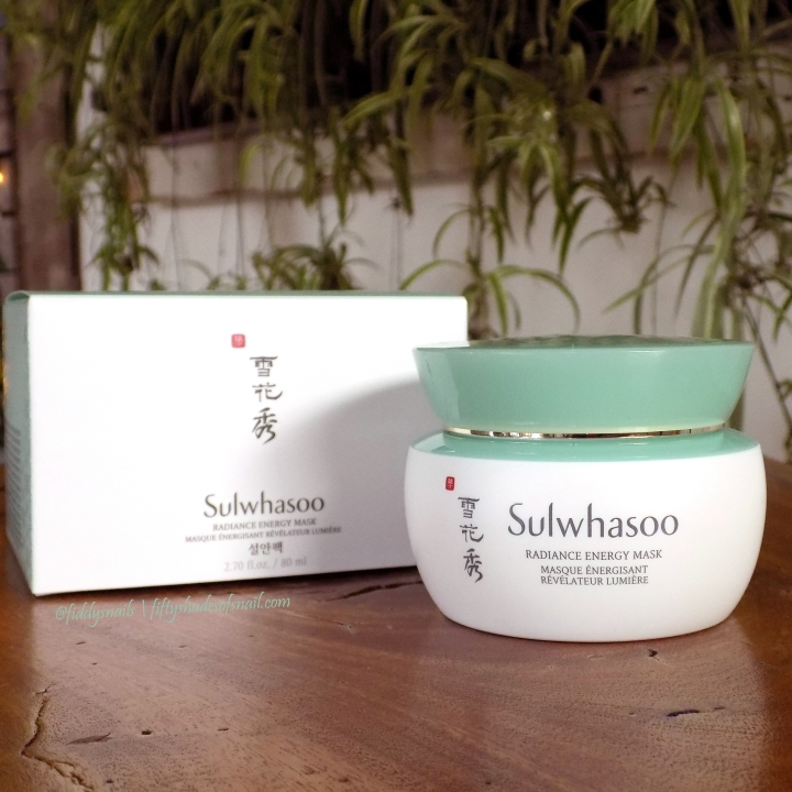 Review: Sulwhasoo Radiance Energy Mask