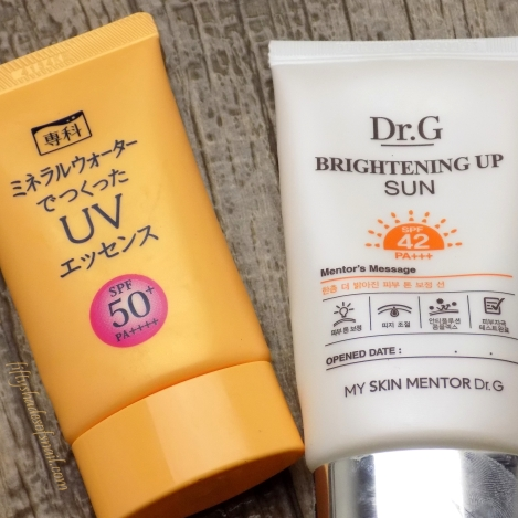Asian sunscreen empties
