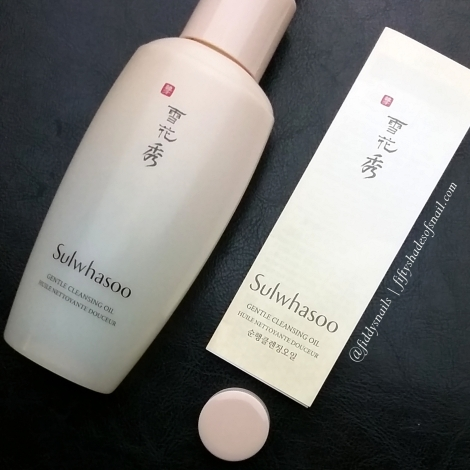 Sulwhasoo cleansing oil Fifty Shades of Snail review
